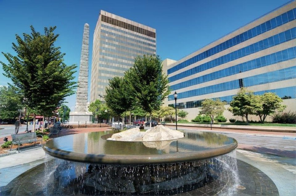 North Carolina Office With a Beautiful Fountain
